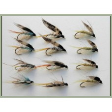 12 Wet Flies - Invicta, Silver Pearl and Standard