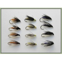 12 Wets -  Snipe & Purple, Partridge & Orange, Yellow & Dove