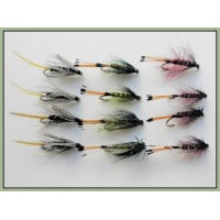 12 Wet Flies - Kate McClaren, Olive & Claret Bumble