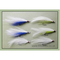 6 Deceiver Bass Flies