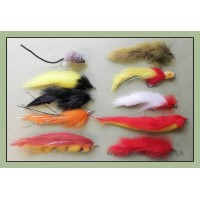 10 Mixed Pike Flies