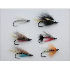 6 Salmon Singles (Hairy Mary, Executioner, Scarlet Diver, Polar White, Potato, Fly Anne Greenway)