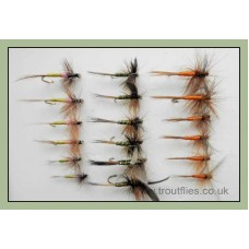 18 Dry Fly - Greenwell, Tupps,Spinner