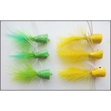 6 Poppers, Green and Yellow