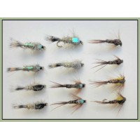 12 Mixed Pheasant Tail and Mixed Hares Ear