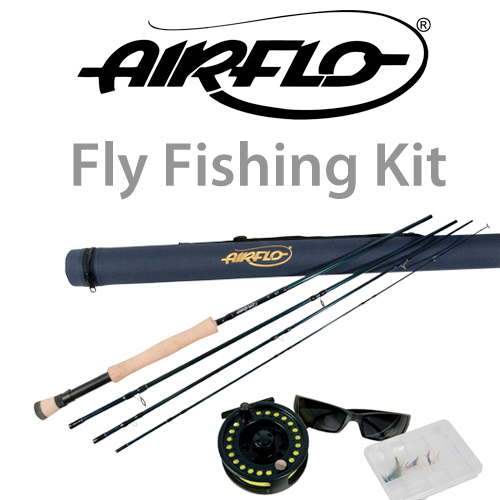 Fly fishing complete set up river game fishing beginner for Fishing pole setup beginners
