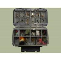 100 Mixed Flies in a Large Compartment Box