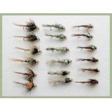 18 Goldhead Favourites, Cruncher, Hares Ear, Pheasant Tails