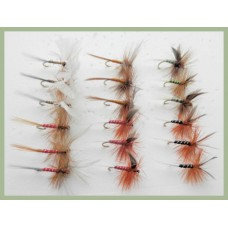 18  Dry Flies - Lunns Particular, Houghton Ruby, Spinners