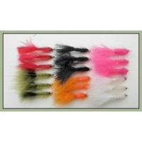 18 Goldhead Woolly Buggers - 6 Colours