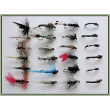 24 Mixed Trout Flies, Buzzer,Dry,Nymph Wets