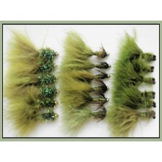 18 Goldhead Lures - Olives