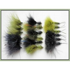 18 Pack Of Lures, Flash Damsels, Waggle tail & Kick Ass, Size 10