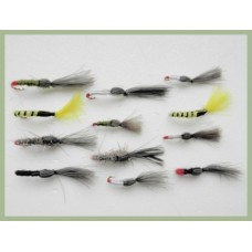 12 Shuttlecock Flies - Mixed (Full Range)