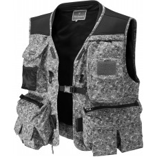 Long Fishing Vest Grey