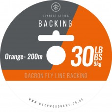 Dacron Flyline Backing 30LB Orange 200m