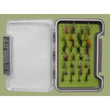 32 Wet, Emerger and Hothead Flies in a Troutflies MEDIUM Silicone Insert Box - Named flies