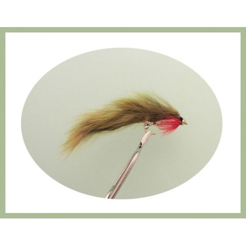 6 pack Natural Barbless Zonkers Size 10, BARBLESS Zonker Trout Flies