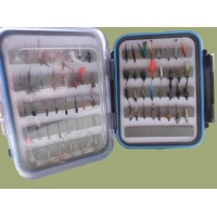 Clear Lid Box -  70 Flies Boxed Set