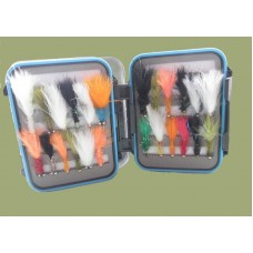 24 Mixed Lure Selection  - Blue Rim Clear Lid Box