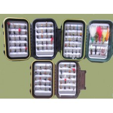 130 Mixed Trout Flies - 3  Boxed Set