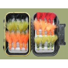 24 Hothead Lures, Red Double Bead & Lime Double Bead Boxset