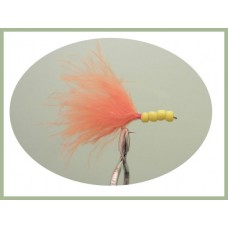 Orange and Yellow beaded Marabou