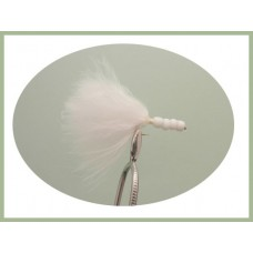 White Beaded Marabou