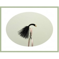 Goldhead Copper Wire buzzer - Black Marabou