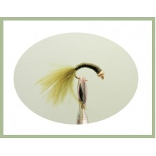 Goldhead Copper Wire buzzer - Olive  Marabou