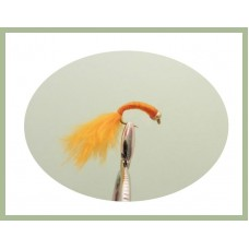 Goldhead Copper buzzer - Orange Marabou