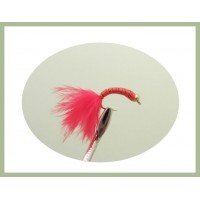 Goldhead Copper Wire buzzer - Red Marabou