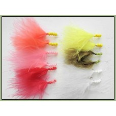 12 Beaded Marabou Nymph - Mixed Colour