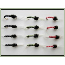 12 Standard Buzzer - Black, Olive  Red