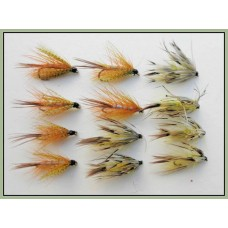 12 Dabblers - Hackled and Flaming Mayflies