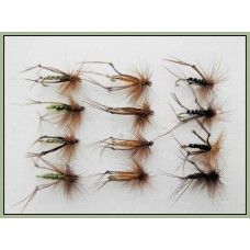 12 Hoppers Black, Brown & Olive