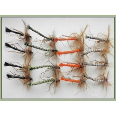 16 Unweighted Detached Daddy Long Legs - Black, Olive, Orange, Natural