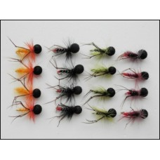 16 Coloured Booby Hopper - Claret, Black, Olive, Orange