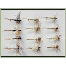 12 Dry Flies -Tupps, Kites Imp, Ginger Quill