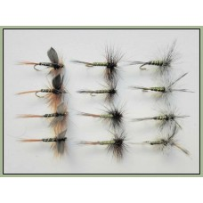 12 Dry Flies - Greenwell Glory, Three Varieties