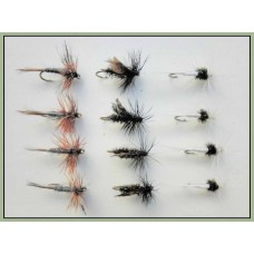 12 Dry Flies - Adams,Alder & Caenis
