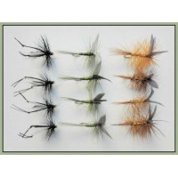 12 Dry Flies - Hawthorn,Whickhams,Dark Olive