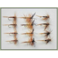 12 Dry Flies - Whickhams, Brown Midge & Pheasant Tail