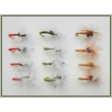 12 klinkhammer Dry Flies - Beige, Red and Olive