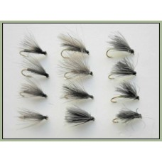 12 Mixed CDC F  Flies - 3 Colours- Mixed Size