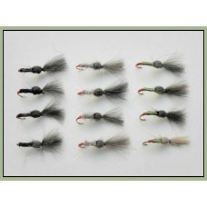 12 Shuttlecock Flies - Mixed
