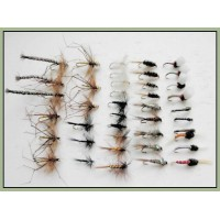 40 Trout Flies, Dry,Nymph and Buzzer Mixed hook size