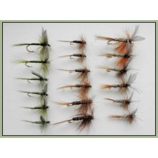18 Dry Flies  - Hares Ear,Pheasant Tail and Olive Dun