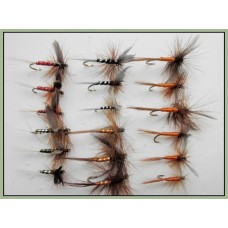 18 Dry Flies, Mixed Spinners