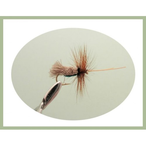 3 X G/&H SEDGE RED DRY TROUT FLIES sizes 10,12,14 available